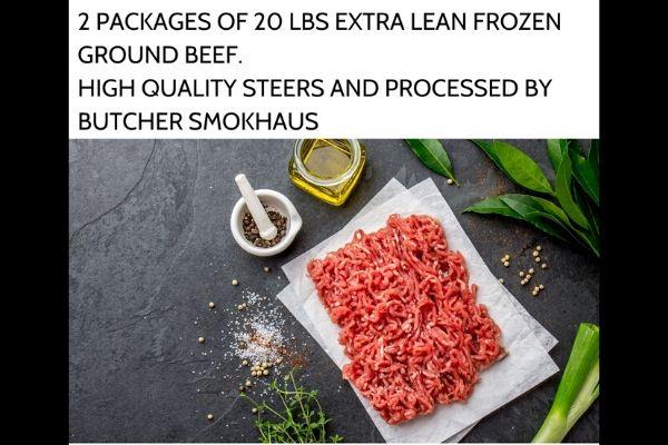 Frozen Ground Beef Package